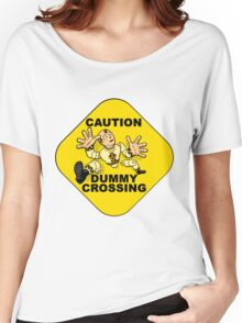 Crash Test Dummies - Caution Dummy Crossing - Yellow Dummy Women's Relaxed Fit T-Shirt