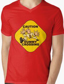 Crash Test Dummies - Caution Dummy Crossing - Yellow Dummy Mens V-Neck T-Shirt