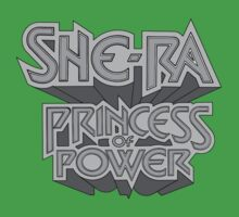She-Ra Princess of Power - Logo - Black & White One Piece - Short Sleeve