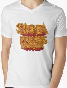 She-Ra Princess of Power - Logo - Color Mens V-Neck T-Shirt