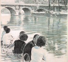 by the Pont Neuf by Peter Brandt