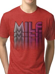 MILF Pink Blur Design Tri-blend T-Shirt