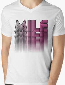 MILF Pink Blur Design Mens V-Neck T-Shirt