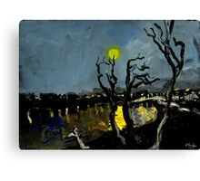 full moon over the freeway Canvas Print