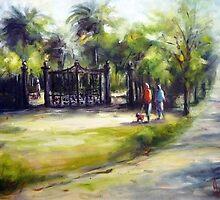 To the Williamstown garden (Victoria-Australia) by Ivana Pinaffo