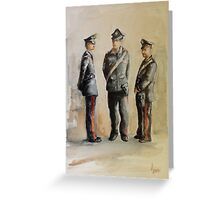 I carabinieri Greeting Card