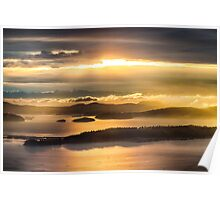 Sunset from Blanchard Mountain  Poster