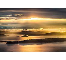 Sunset from Blanchard Mountain  Photographic Print