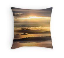 Sunset from Blanchard Mountain  Throw Pillow