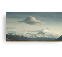 Lower Tasman Valley New Zealand - Lenticular clouds Canvas Print