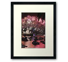 Sydney lights up! Framed Print