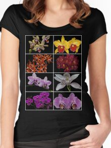 Orchid Collage TShirt Women's Fitted Scoop T-Shirt