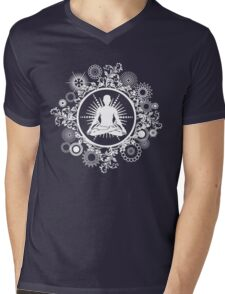 Inner Being - white silhouette Mens V-Neck T-Shirt