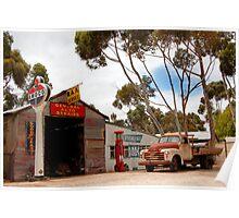 Australian Heritage Town Garage Poster