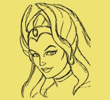 She-Ra Princess of Power - Looking Left - Black Line Art by DGArt