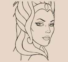 She-Ra Princess of Power - Looking Over Shoulder - Black Line Art by DGArt