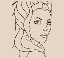 She-Ra Princess of Power - Looking Over Shoulder - Black Line Art by DGArt