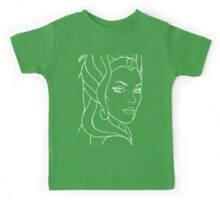 She-Ra Princess of Power - Looking Over Shoulder - White Line Art Kids Tee