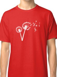 Dandylion Flight - white silhouette Classic T-Shirt