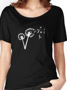 Dandylion Flight - white silhouette Women's Relaxed Fit T-Shirt