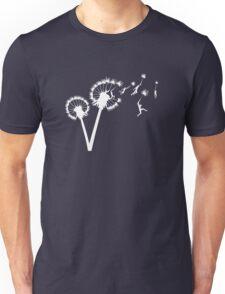 Dandylion Flight - white silhouette Unisex T-Shirt