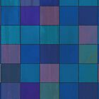 Retro Style Colorful Squares Pattern in Cold Tones by ibadishi