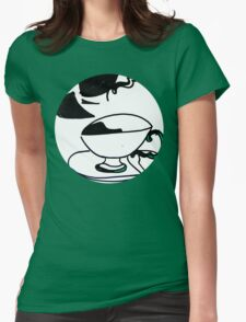 tea cup's Womens Fitted T-Shirt