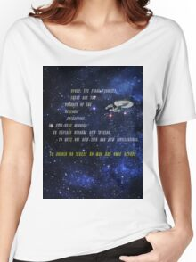 Space: The Final Frontier - Acrostic Women's Relaxed Fit T-Shirt