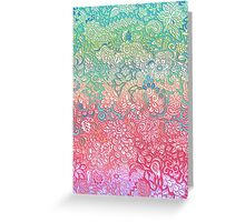 Soft Pastel Rainbow Doodle Greeting Card