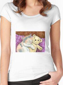 Good Friends Women's Fitted Scoop T-Shirt