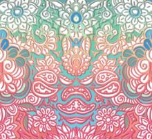 Soft Pastel Rainbow Doodle Sticker