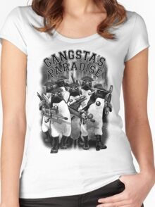 GANGSTA'S PARADISE Women's Fitted Scoop T-Shirt