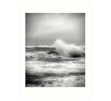 Stormy coast Art Print