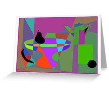 Black fruit still life Greeting Card