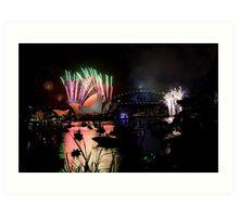 new year's eve 2014 of sydney - 3 Art Print