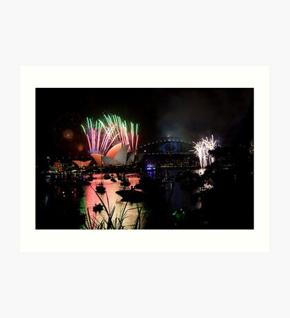 new year's eve 2014 of sydney - 3 Art Print