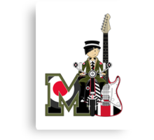 M is For Mod Canvas Print