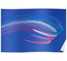 red arrows - formation flying Poster
