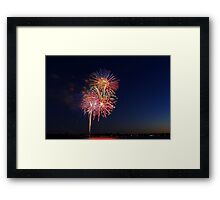 New Year Day Fireworks 2014  Framed Print