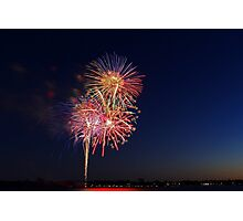 New Year Day Fireworks 2014  Photographic Print