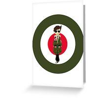 Mod Boy & Target Greeting Card