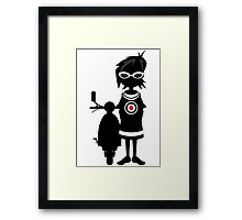 Mod Girl & Retro Scooter Framed Print