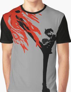 Black leg Graphic T-Shirt