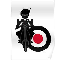 Mod Boy & Retro Scooter Poster