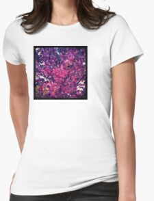 Colorful leaves Womens Fitted T-Shirt