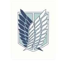 Shingeki no Kyojin Survey Corps Logo / Symbol Art Print