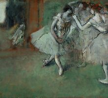 Edgar Degas - A Group of Dancers by TilenHrovatic