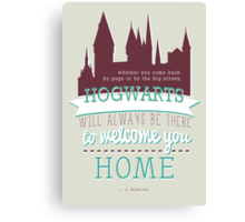 J.K Rowling quote Canvas Print