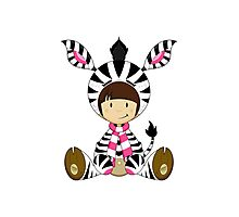 Cute Zebra Kid Photographic Print
