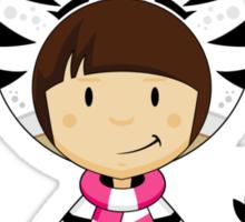 Cute Zebra Kid Sticker